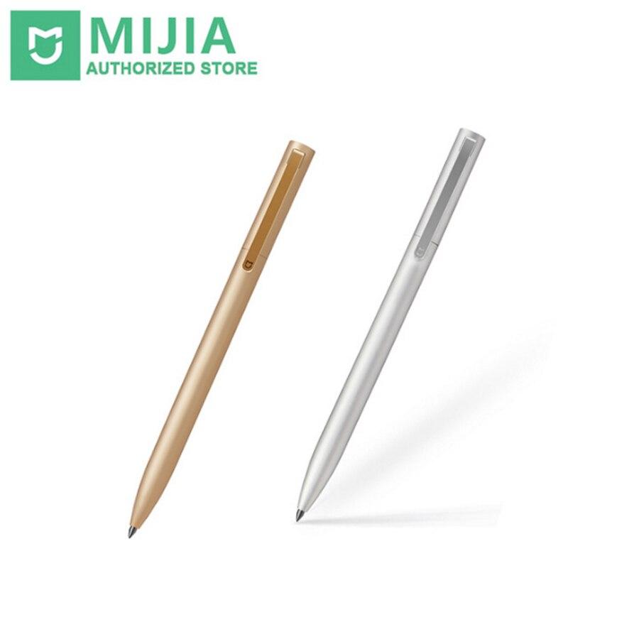 Originale Xiaomi All Metal Mijia Segno 2 MI 0.5mm PREMEC Liscio Svizzera Firma Refill Inchiostro Metallo Oro E Argento