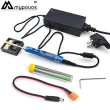 TS100 Oscilloscope Electric Soldering Iron USB Mini Internal-heating Soldering Station Intelligent Numerical Control Adapter tip цены онлайн
