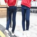 Infant Girls denim Elástico delgado pantalones Pantalon taille haute femme elástico skinny jeans pantalones pantalones Denim vaqueros calca feminina