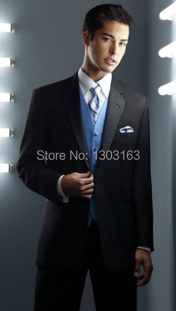 2016 Fashion Men Suits Classic Groom Tuxedos Men's Suits,Can Match Any Color Waistcaot Free Shipping