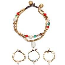 Женский двухслойный браслет amourjoux в стиле бохо цепочка с