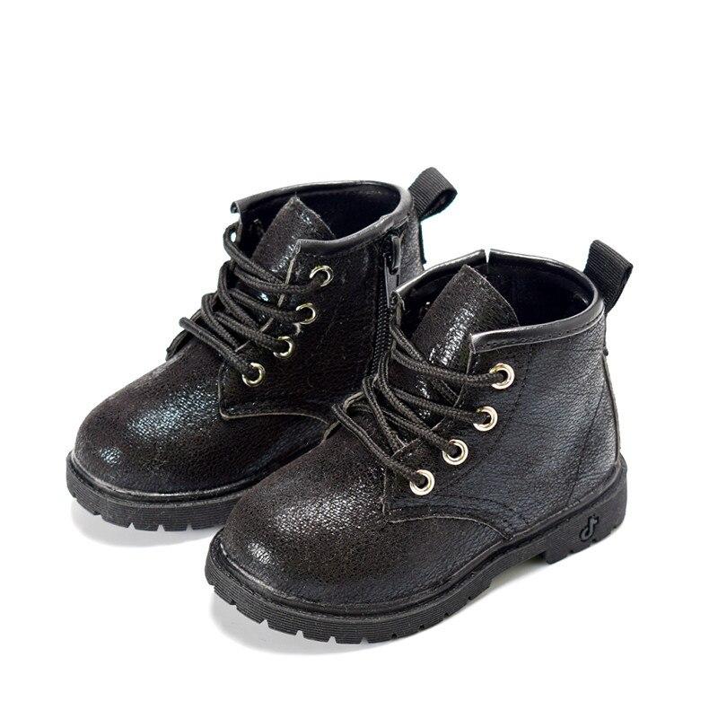 DIMI 2019 Autumn/Winter Plush Children Boots Boys Girls Martin Shoes Fashion Brand Zipper Soft Leather Warm Kids Boots