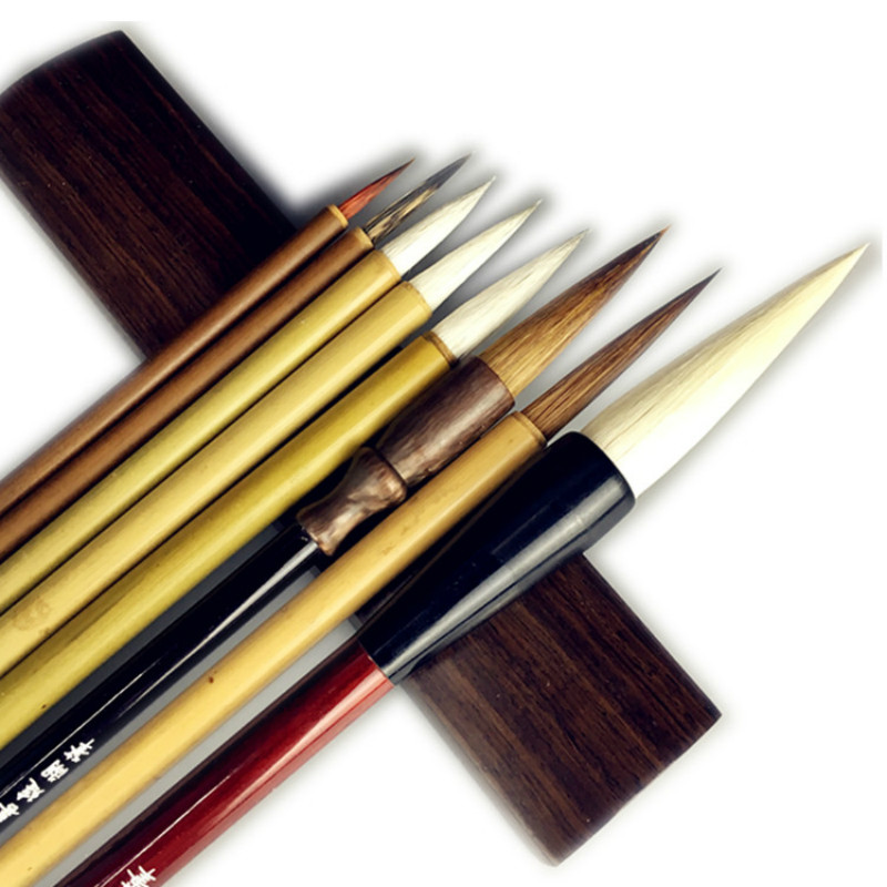 8PCS Weasel Hair Chinese Painting Brush Set Soft Woolen Writing Painting Brush Calligraphy Brush Pen Landscape Painting Brushes8PCS Weasel Hair Chinese Painting Brush Set Soft Woolen Writing Painting Brush Calligraphy Brush Pen Landscape Painting Brushes
