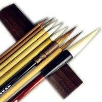 8PCS Weasel Hair Chinese Painting Brush Set Soft Woolen Writing Painting Brush Calligraphy Brush Pen Landscape Painting Brushes