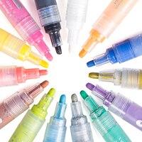 14 Color/Lot Creativo Acrilico Pennarelli Evidenziatore Impermeabile Mano di Vernice di DIY Art Marker per Per L'arte Scuola di Design fornitore
