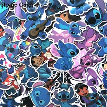 Homegaga 50pcs Stitch Pvc Waterproof Cartoon For scrapbooking album Luggage Skateboard Phone Laptop Wall Guitar Stickers D1289 homegaga 60pcs steven universe pvc waterproof cartoon for scrapbooking album luggage skateboard phone wall guitar stickers d1290