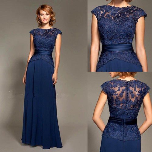 Top Free shipping big discount sexy lace royal blue New - Wedding Party Dresses