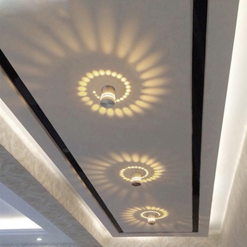 LemonBest 5 Watt Moderne FHRTE Deckenleuchten Aluminium Hohl Leuchten Fr Haus Beleuchtung Innen Wohnzimmer Lampe AC