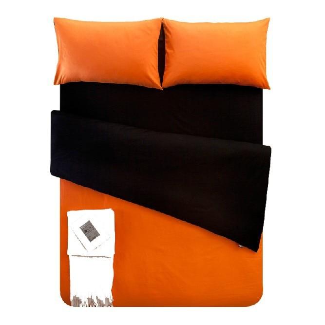 Hot Sale Fashion 4pcs Cotton Solid Black and Orange