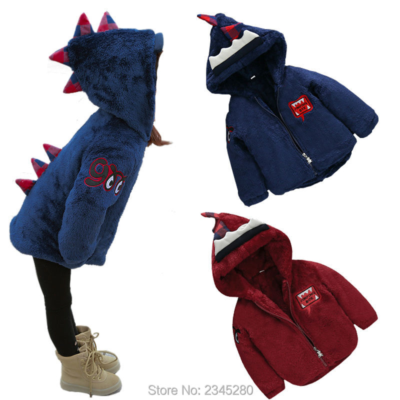 Parkas Coat Jacket for Girls Boys Baby Clothes Children's Winter Jackets Kids Outerwear Dinosaur Christmas New Year Clothing 2017 new children baby winter cotton padded jacket toddler girls boys zipper nylon coat fashion outerwear kids parkas clothes