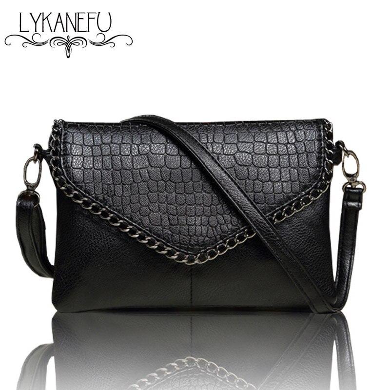 LYKANEFU Beiläufige Kleine Tasche für Frauen Messenger Bags für Frauen Umhängetaschen Schwarz Kupplung Geldbörse und Handtasche Dollar Preis