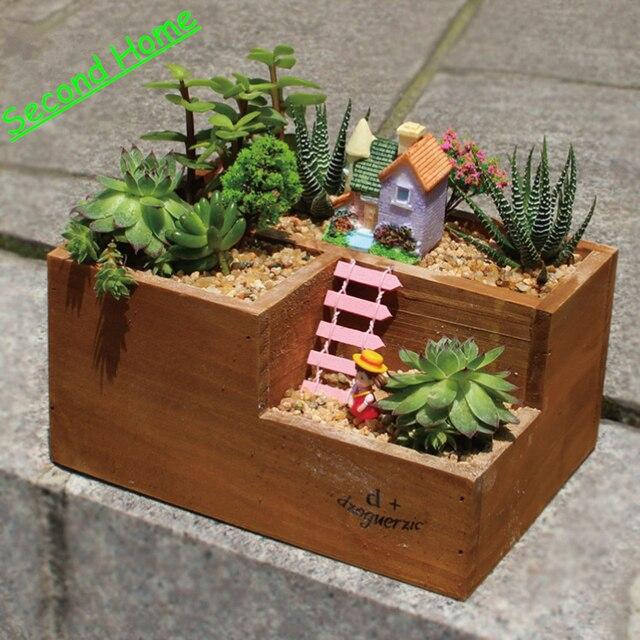garden materials. Garden Decoration Bonsai Ornaments Micro Landscape DIY Landscaping Materials Little Flower Pot Box Storage