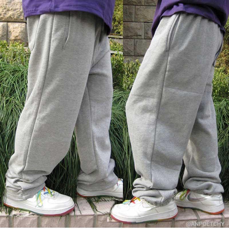 Dance Hip Hop Sweatpants Harem Mens Joggers Pants Cotton Loose Baggy Sweat Pants Streetwear Trousers Wide Leg Men Clothes