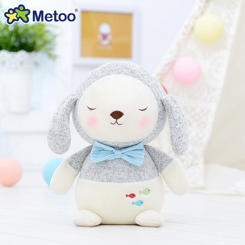 7.9 Inch Plush Cute Stuffed Brinquedos Baby Kids Toys for Girls Birthday Christmas Gift Bonecas knitting Wool Rabbit Metoo Doll 9 inch plush stuffed brinquedos lovely cartoon baby kids toys for girls birthday christmas gift animals cute dog metoo doll