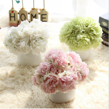 Silk Hydrangea Flowers Artificial Flowers 5 Heads Mini Rose Home&Garland Decor For Wedding Small Bride Rosa Bouquet Decoration