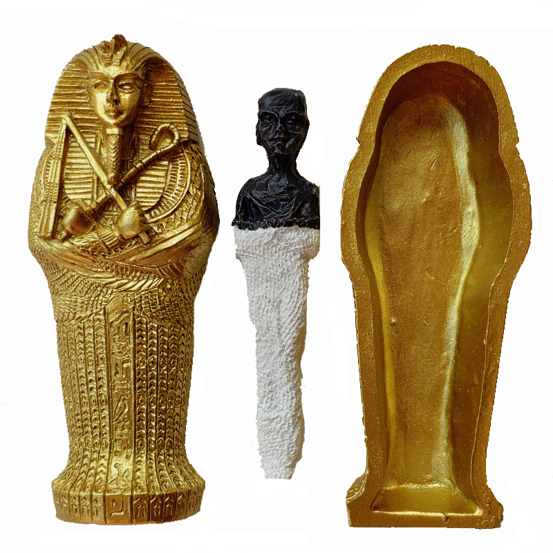 1pcs Resin Ancient Egyptian Coffin Figurine Sculpture Egypt Mummy Statue Small Ornaments Miniature Model Fish Tank Decoration8