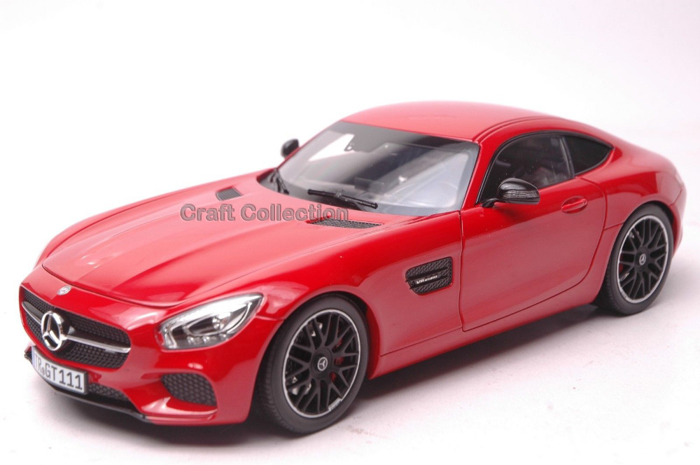 * Norev Red 1/18 Scale Benz AMG GT SLS High-end Sport Car Coupe Collection Diecast Model Car Luxury Race Vehicle
