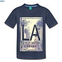 GILDAN Smiley World Los Angeles City Of Dreams Kids Premium T Shirt Newest T Shirt Men