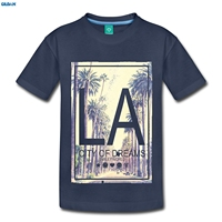 GILDAN Smiley World Los Angeles City Of Dreams Kids Premium T Shirt Newest T Shirt Men
