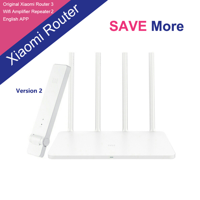 2017 New Original Xiaomi Mi WIFI 2.4G/5GHz Dual Band Router 3 and WiFi Repeater 2 Amplifier 2 Kit English Version APP Control