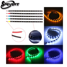 SPEVERT 11.8inch 30 CM Waterproof Strip Band 15 LED 3528 SMD Cold White DC12V Auto Strip light Red Green Blue Yellow Cool White