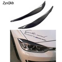 1 Pair Carbon Fiber Headlights Eyebrows Eyelids for BMW f30 f35 320 328
