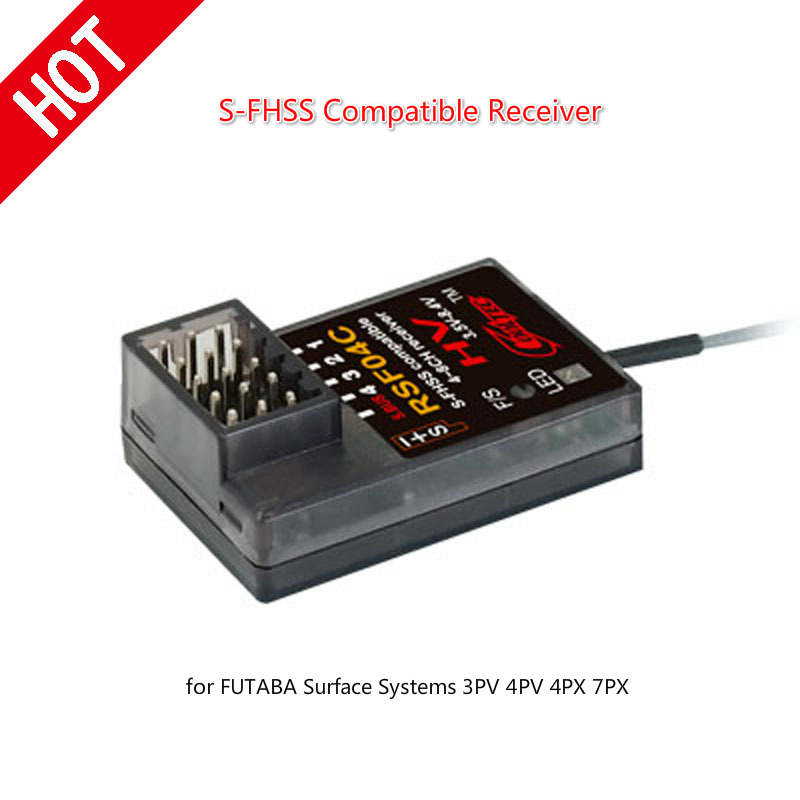 Cooltech RSF04C S-FHSS Compatible Receiver For FUTABA Surface Systems 3PV 4PV 4PX 7PX