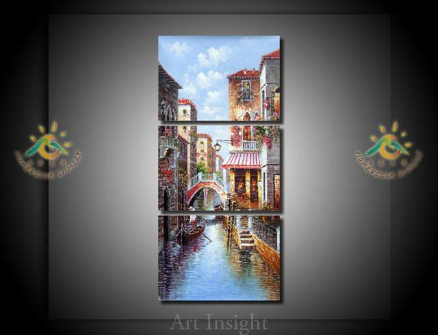 3 Pieces/set The town of Venice Wall Art Pictures Printed Canvas Painting Modern Wall & 3 Pieces/set The town of Venice Wall Art Pictures Printed Canvas ...
