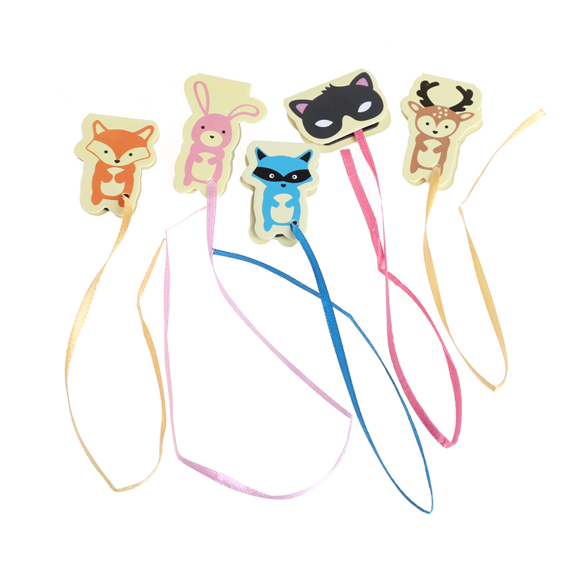 Cute Animals Long Tail Paper Magnetic Bookmark Book Mark Stationery Kids Gift W15