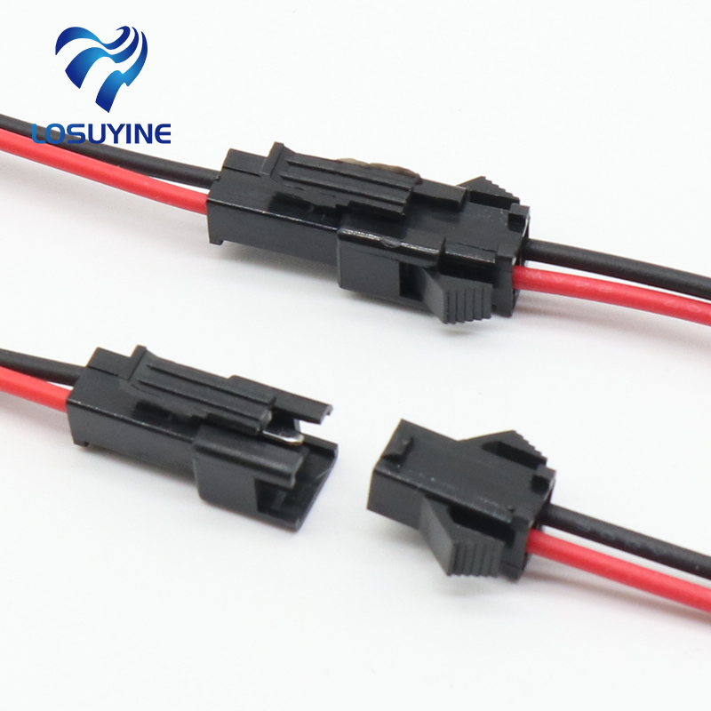 Promotion! 10Pairs 15cm Long JST SM 2Pins Plug Male To Female Wire Connector(China)
