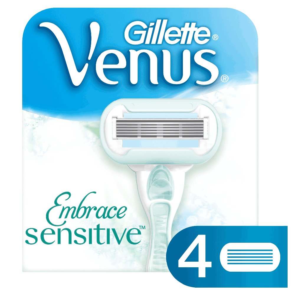 Removable Cassette Gillette Venus Embrace Sensitive Replaceable Razor Blades Blade For Women Shaving Razors 4 pcs replaceable razor blades for women gillette venus spa breeze 4 pcs cassettes shaving venus shaving cartridge