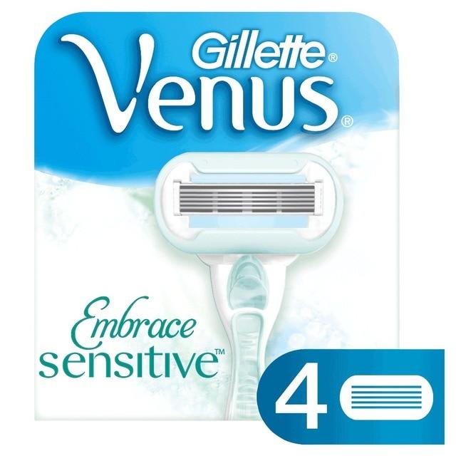 Сменные кассеты для бритья VENUS Proskin для чувствительной кожи (4 шт.)