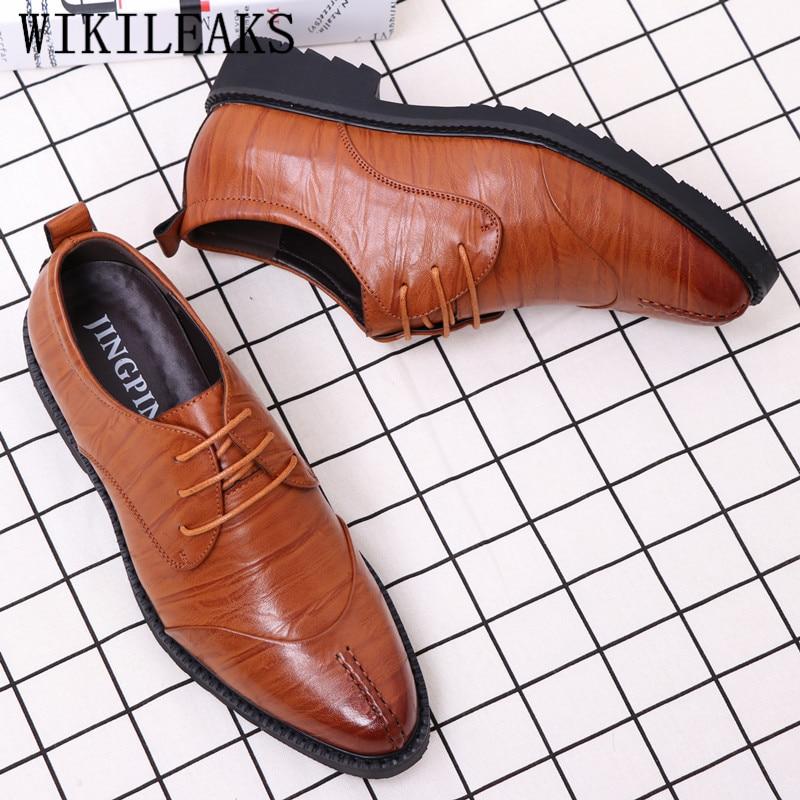 2019 Luxus Männer Schuhe Casual Kleid Schuhe Mann Hochzeit Schuhe Coiffeur Zapatos De Hombre De Vestir Formale Sapato Social Masculino Komplette Artikelauswahl
