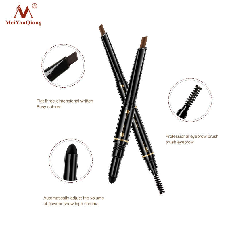 Воздушной подушке Триада карандаш для бровей водостойкая стойкая Треугольники естественный макияж карандаш для подводки бровей с Кисточки для макияжа 3in1