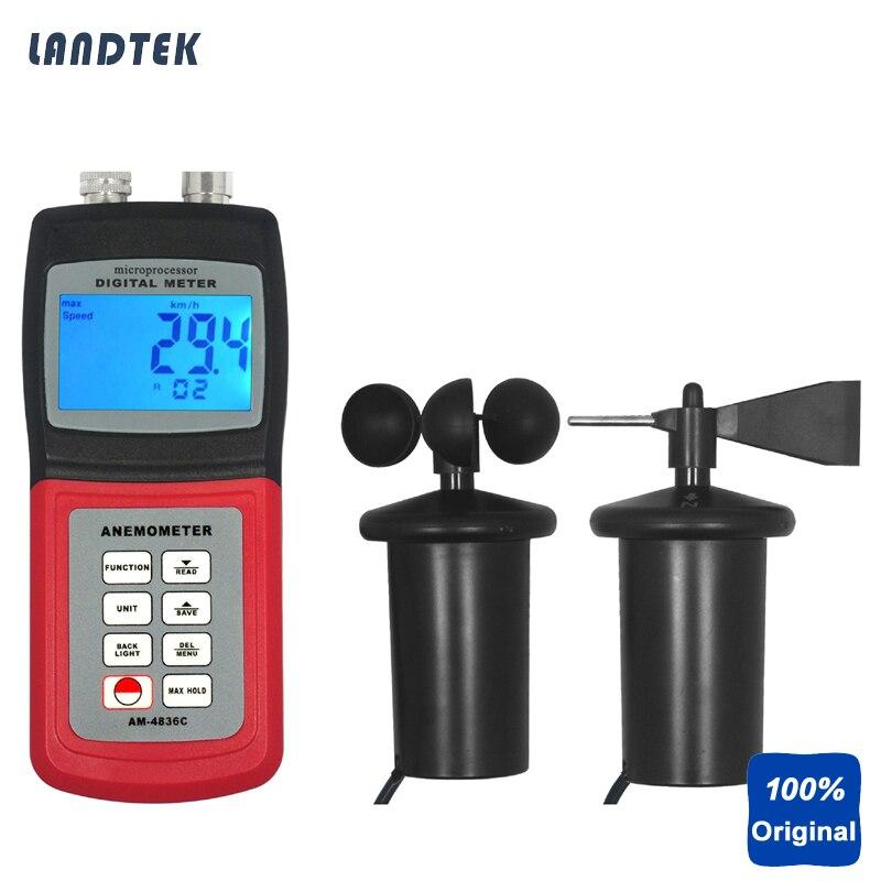 Landtek AM4836C Multi-function Thermo Anemometer инструменты измерения и анализа landtek sl5816 sl 5816 40 130