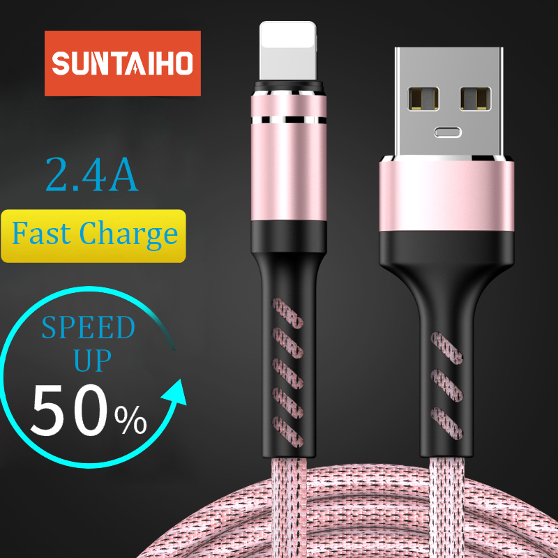 Suntaiho usb cable for iphone cable XR Xs max XS X 8 7 6 6s 5 s plus ipad mini fast charging