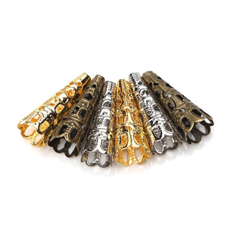 Мм 20 шт./лот 23*7 мм Винтаж цвета: золотистый, серебристый цвет металлические чашечки для бусин выдалбливают цветок Конец шапки ювелирных изделий Выводы Компоненты