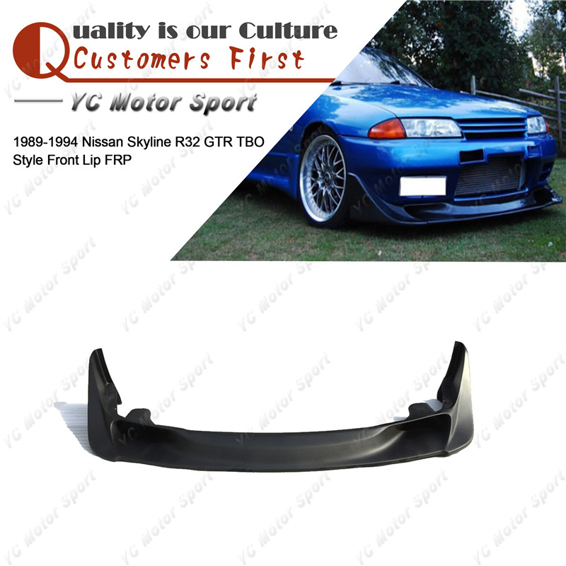 Car Accessories FRP Fiber Glass TBO Style Front Lip Fit For 1989 1994 Skyline R32 GTR Front Bumper Lower Splitter Lip|front lip|lip front|car front lip - title=