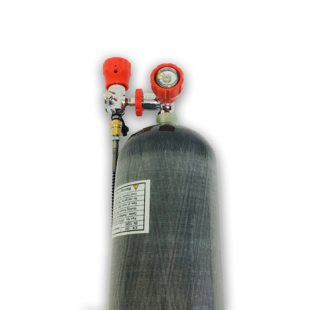 New Russia Warehouse HPA Hunting PCP Air Tank 6.8L CE Paintball 4500psi Carbon Fiber Gas Cylinder With Valve And Fill Station