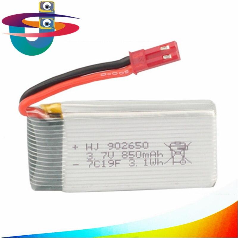 3.7V 850mAh Battery for Syma X54HC X54HW X56W TK110HW RC Quadcopter Spare Parts Accessories 5pcs lot syma x13 quadcopter parts 3 7v 200mah battery