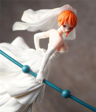 Free Shipping  Anime One Piece SCultures Nami Wedding Dress Ver Colosseum 4 Vol. 2 PVC Action Figure Collection Model Toy