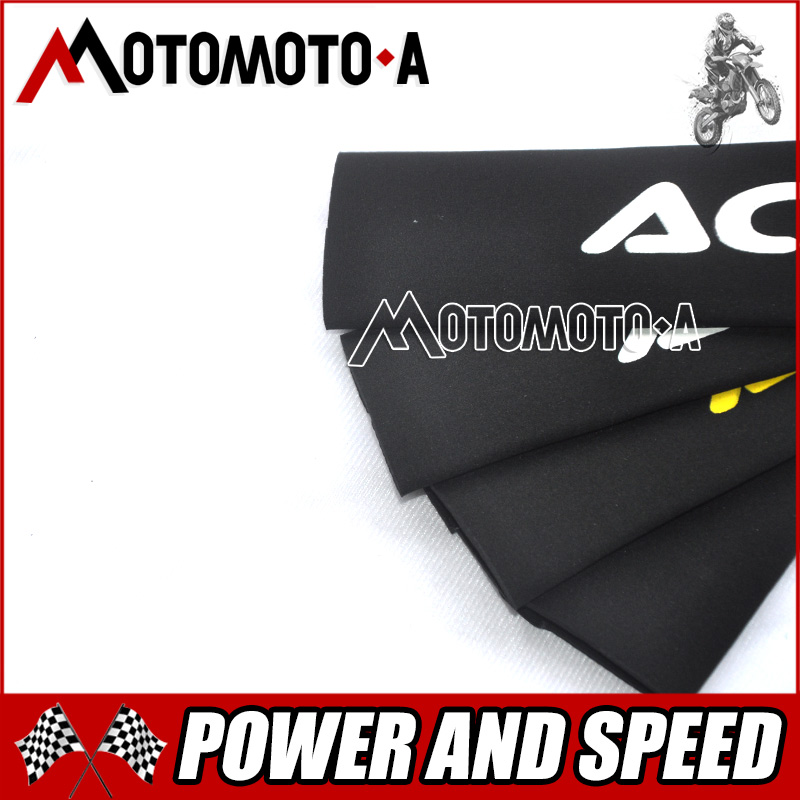 New Front Fork Protector Shock Absorber Guard Wrap Cover Skin For Motorcycle Motocross Pit Dirt Bike KTM YZF250 CRF250 CRF450 49mm protector dust guard motorcycle front rubber fork dirt cover gaiter gator boot cap shock for harley dyna fat bob 2008 2016