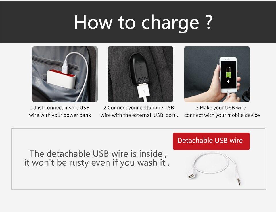 Sac à dos  Anti voleur USB 6
