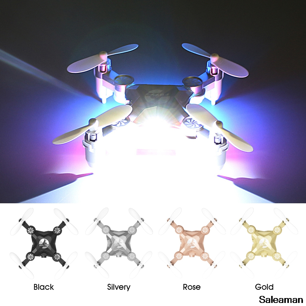 Mini RC Drone FQ777 FQ11 With Foldable Arm 3D Mini 2.4G 4CH 6 Axis Headless Mode RC Quadcopter RTF Black, Rose Gold, Silver,Gold