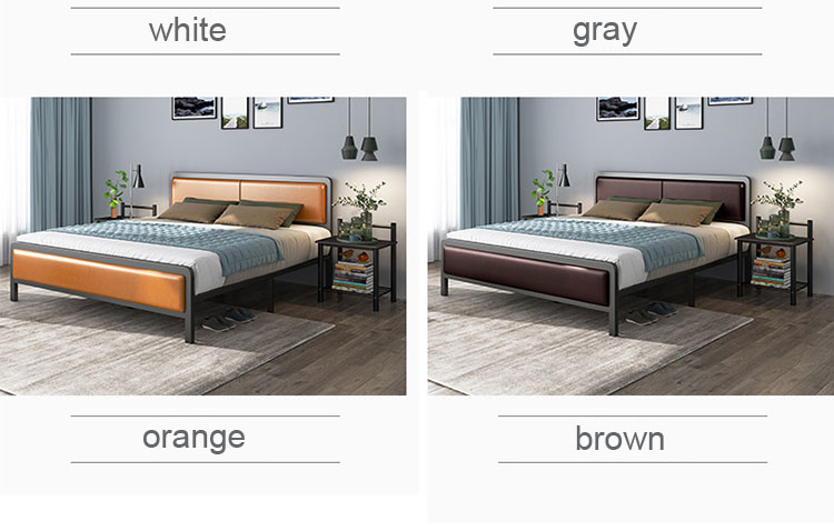 RAMA DYMASTY metal bed iron bed modern design bed/ fashion king/queen size bedroom furniture
