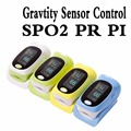 New Arrival Gravity Sensor Control OLED display Fingertip Pulse Oximeter, Blood Oxygen SpO2 Monitor 4 color available