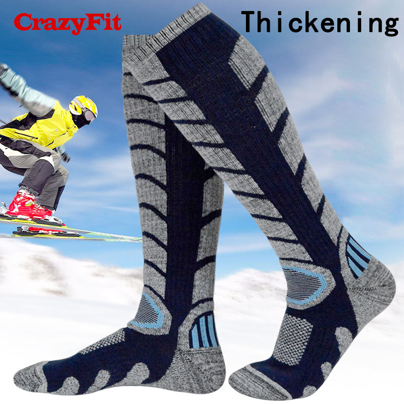 Winter Thermal Ski Socks Warm Cotton Sport Snowboard 2018 Long For Women Men Skiing Cycling Outdoor Hiking Running Bicycle Socks