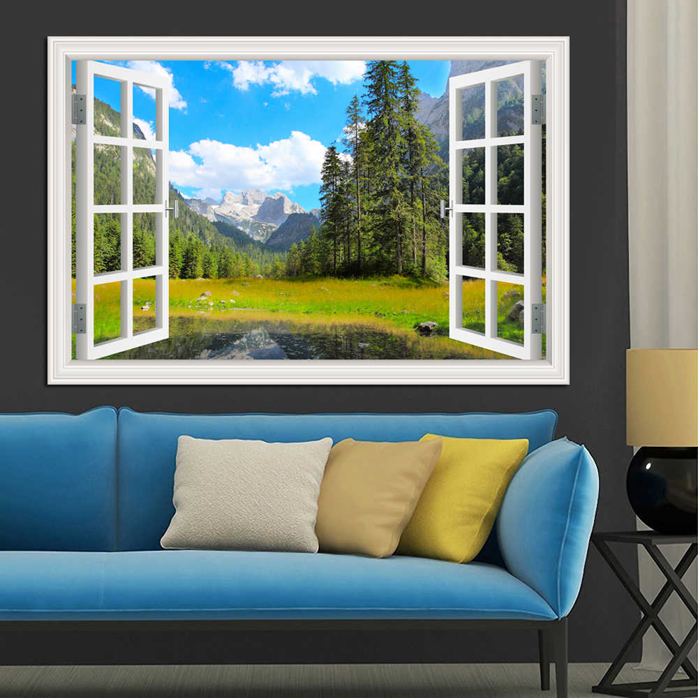 Զարմանալի Sunny Lake and Blue Sky Scenery Բարձրորակ - Տնային դեկոր - Լուսանկար 2