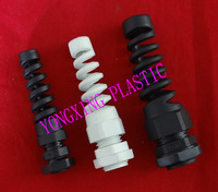 2017 Freeshipping Bending Cable Glands PG7 PG9 Water Proof Connector White And Black Color