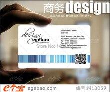 Personnalise Carte De Visite Impression En Plastique Transparent Blanc Dencre PVC Une Face 500 Pcs
